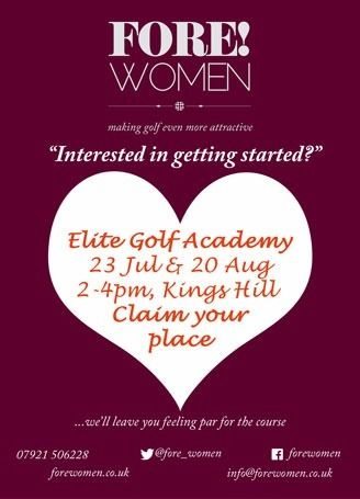 Women's golf beginner taster session, Kings Hill (Free)