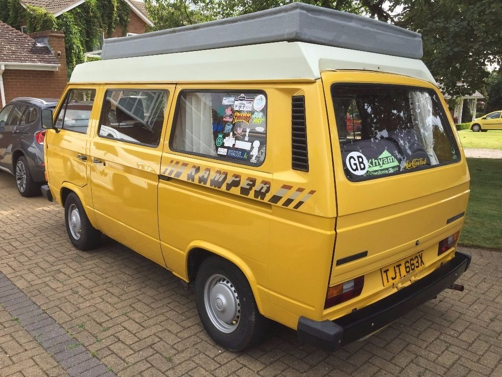 1981 VW T25 2.0 Air-Cooled CI Autohomes Campervan 4-Berth in Yellow