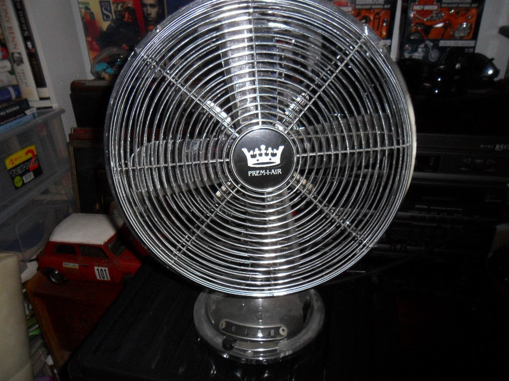 12 fan antique style osilating 3 speed chrome swap only not free