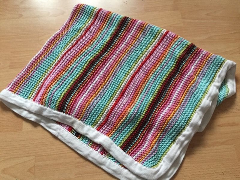 Mamas and papas knitted baby pram blanket