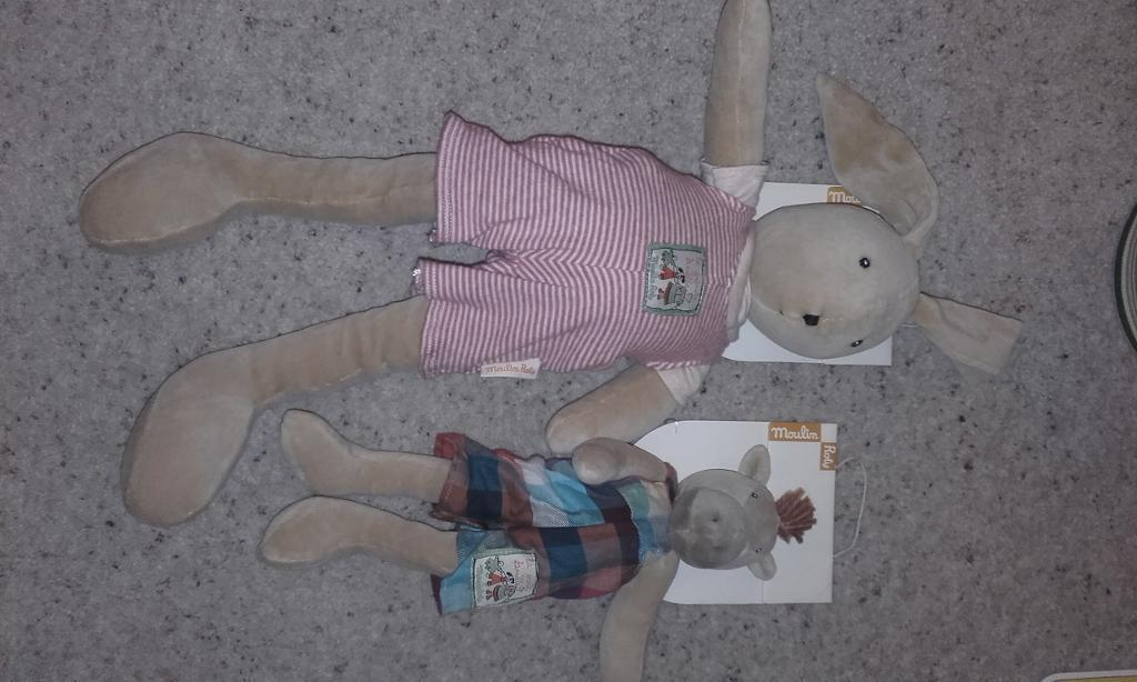 Moulin Roty Sylvain Rabbit and Hugo Horse - New and Unused