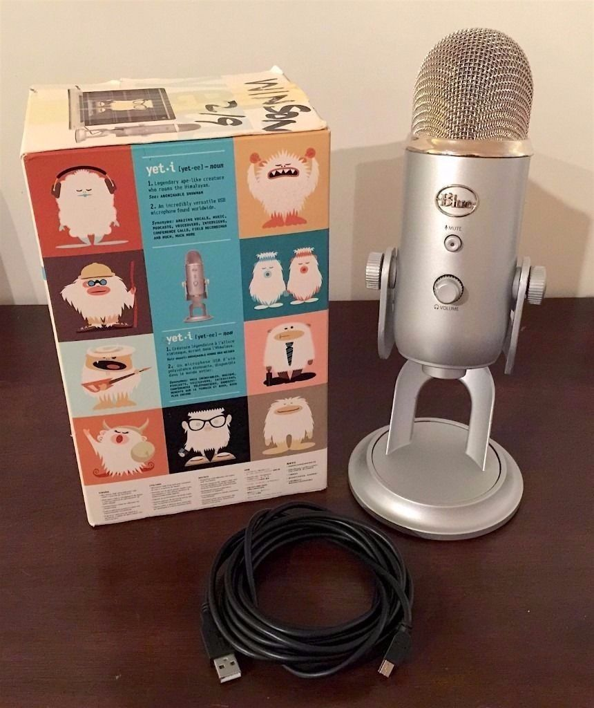 Blue Yeti USB Microphone in Silver