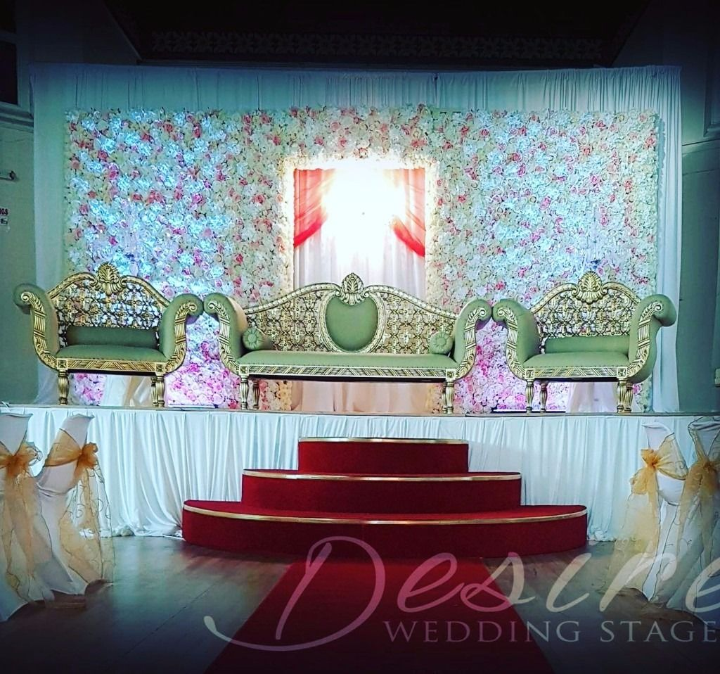 Asian Wedding Stage Decoration Flower Floral Wall Centerpieces Nottingham Derby Leicester Burton