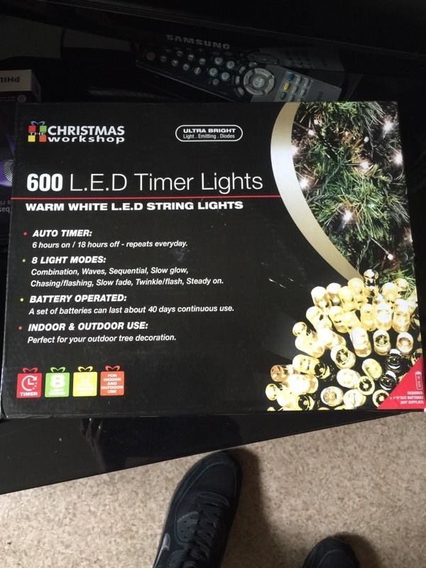 600 christmas lights battery operated