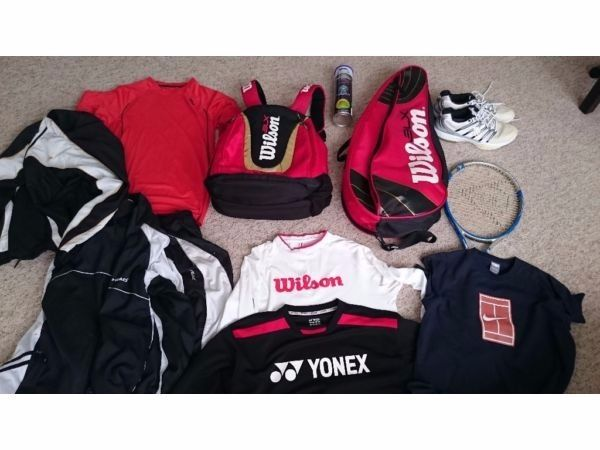 TENNIS RACKETS,SHOES,BALLS,CLOTHES AND MUCH MORE...