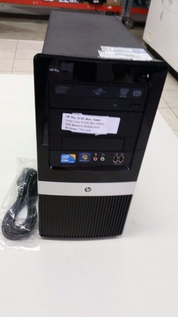 HP Pro 3130 Mini-Tower Intel Core i5 -3.20GHz 4GB Memory 500GB HDD