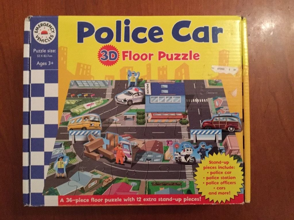 3D police car floor puzzle