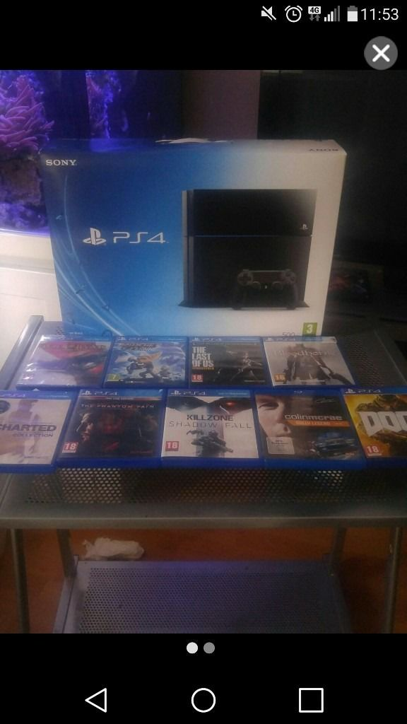 ps4 boxed like new with 8 games
