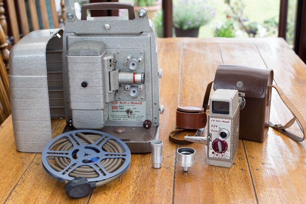 Vintage G.B. Bell & Howell Camera & 8mm Projector