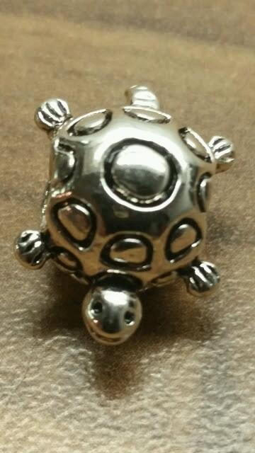 silver 925 turtle charm