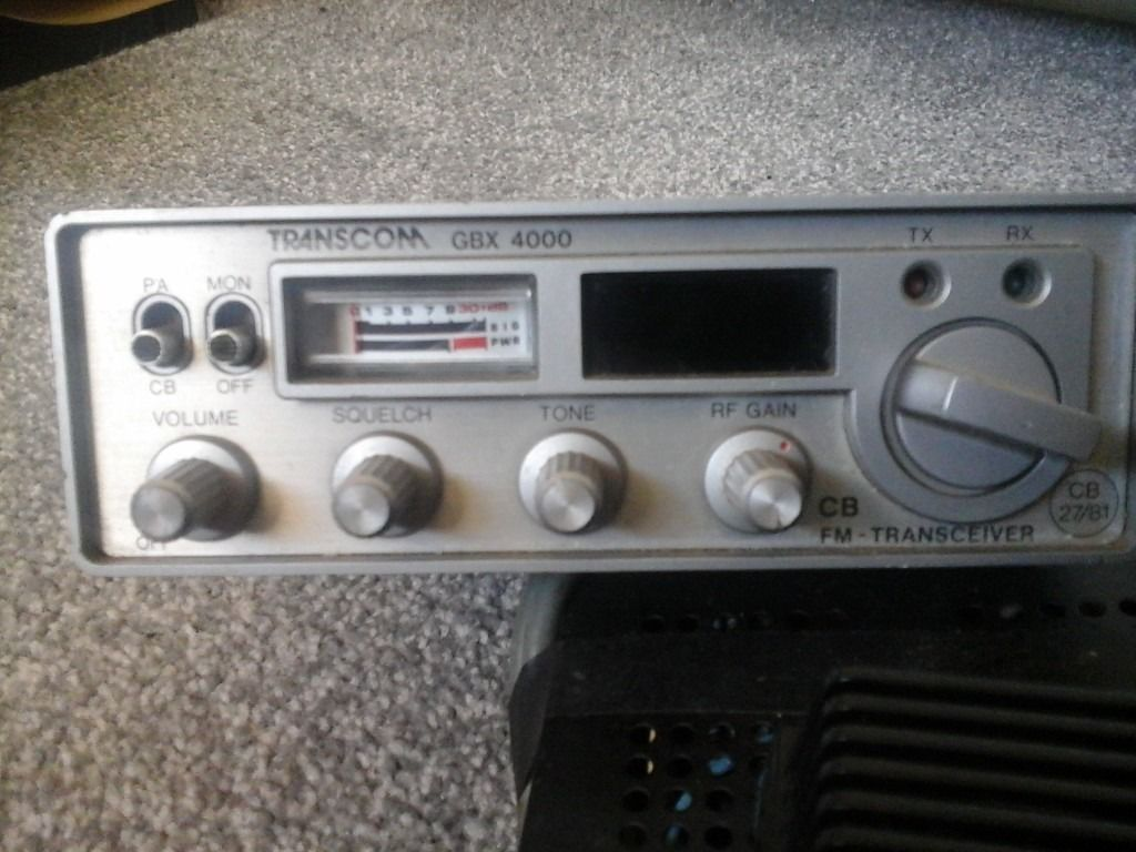 C.B radio suitable for car or boator land rover