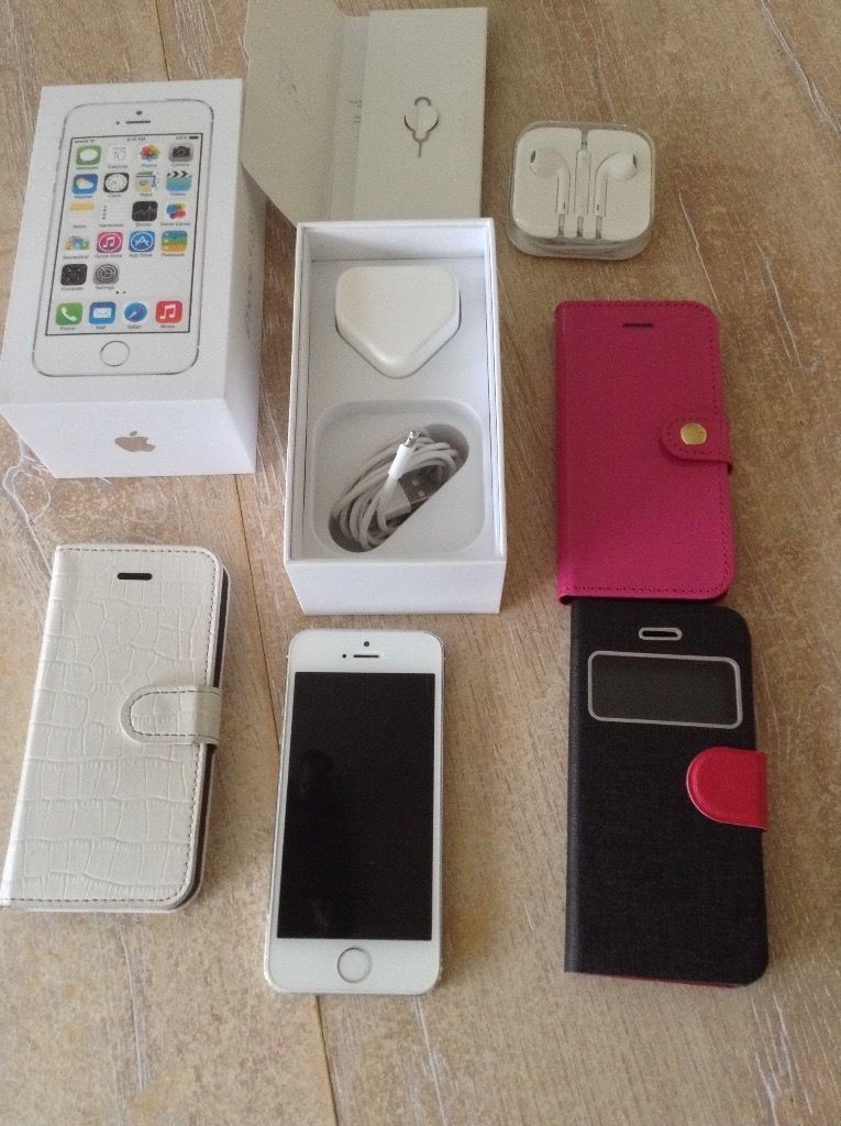 iPhone 5s silver 64gb unlocked