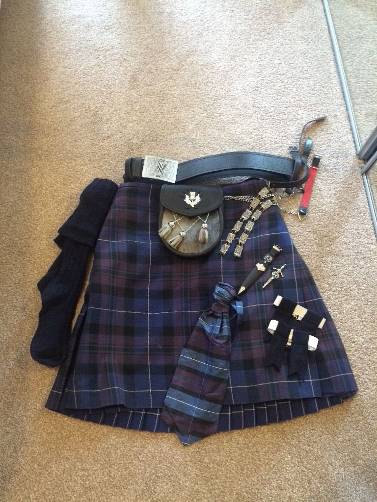 Kilt outfit part 2. Pride of Scotland kilt and accessories.