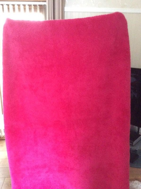 Pink fleece throw