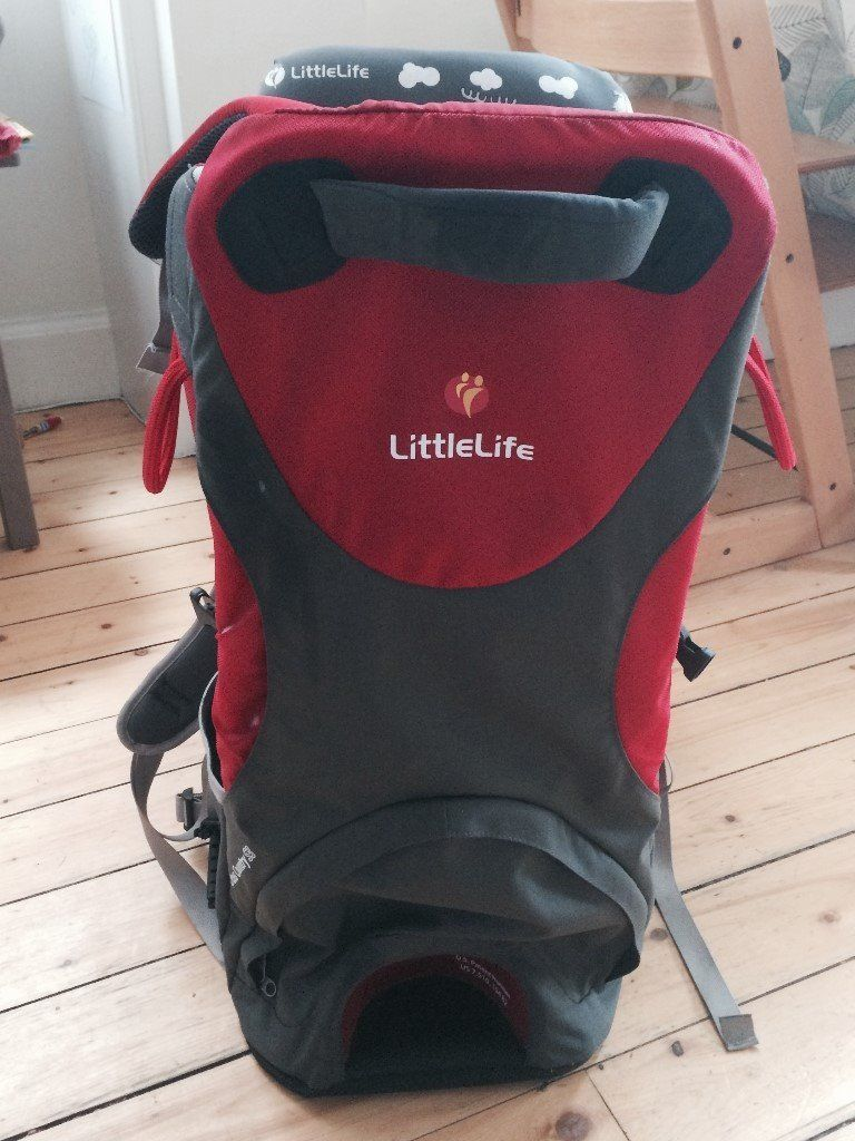 LittleLife Cross Country S3 Baby Back Carrier (Red and Grey) - 6 months - 3 years