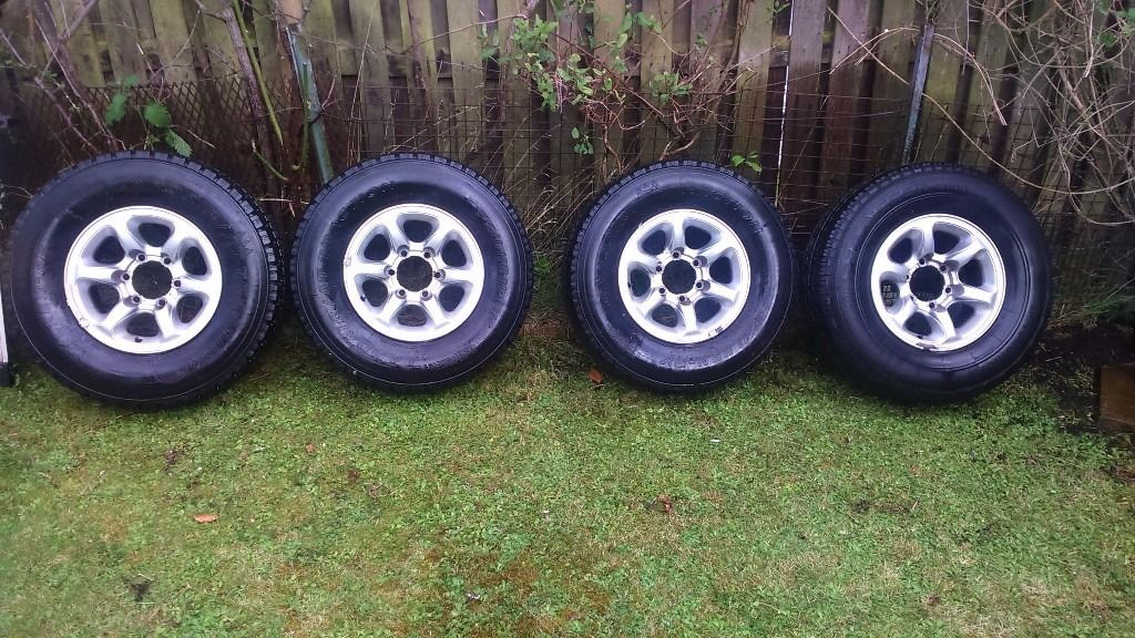 Pajero Shogun 265 70 R15 RIMS AND TIRES will other jap fitments
