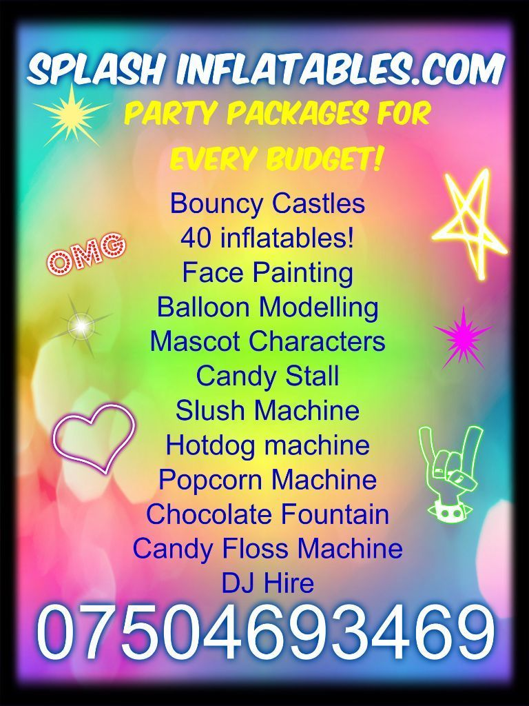 Deals on Face painting, Mascot Hire, Balloon Modelling, DJ Disco, Hot tub, painter