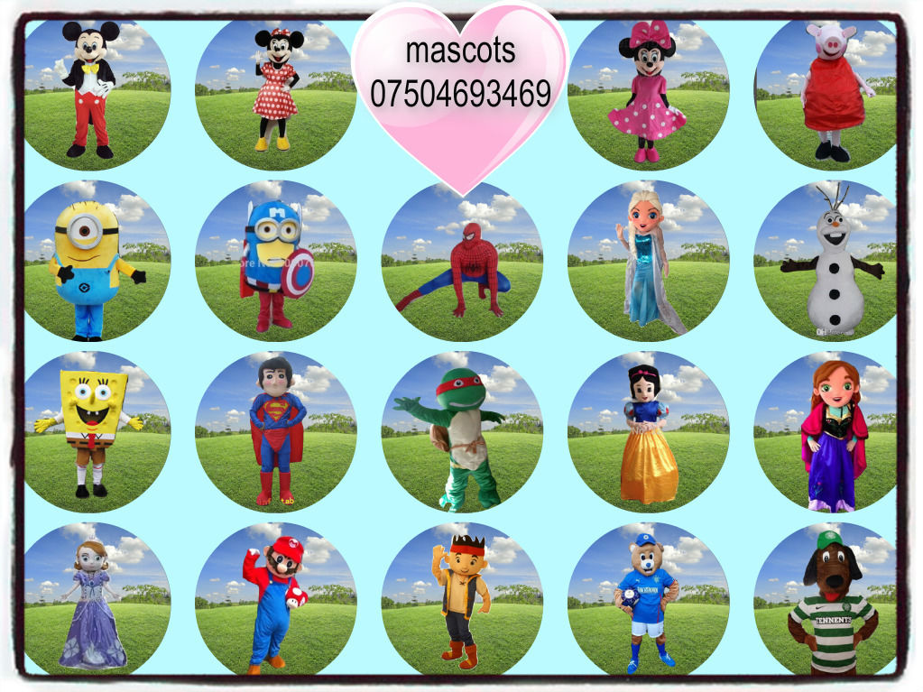 CHEAP Mascot Costume Hire, Frozen, Elsa, Olaf, Mickey, Minnie, Minion, turtle, Hulk, patrol, upsy