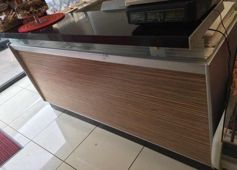 Marble & stainless steel banca bar- brilliant condition!