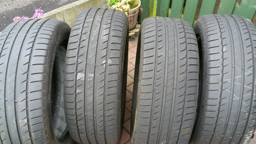 "Michelin HP primacy 16"" tyres"