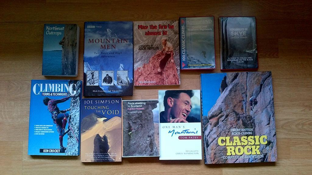 Climbing Books and Guides - 10 in total
