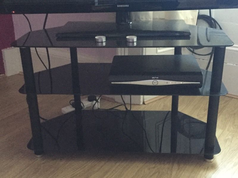 Black TV stand **quick sale needed**