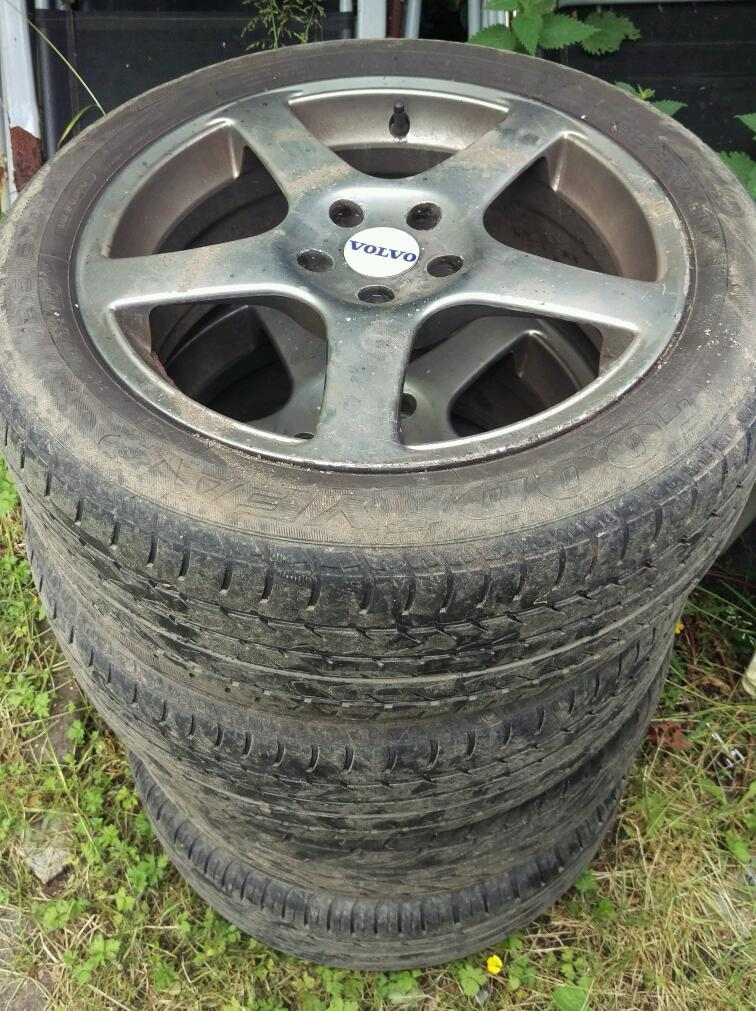 "Set of 17"" Alloys with tyres"