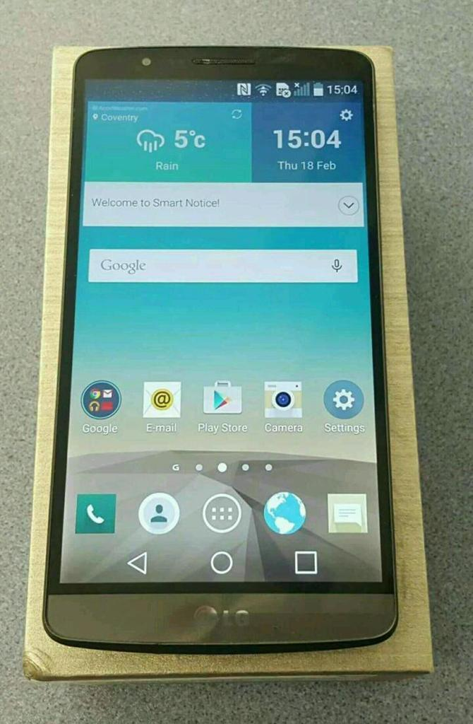 Lg g3 d855 unlocked excellent condition.