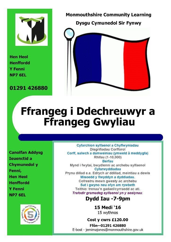 French Beginners course in Abergavenny - Perfect for a holiday!