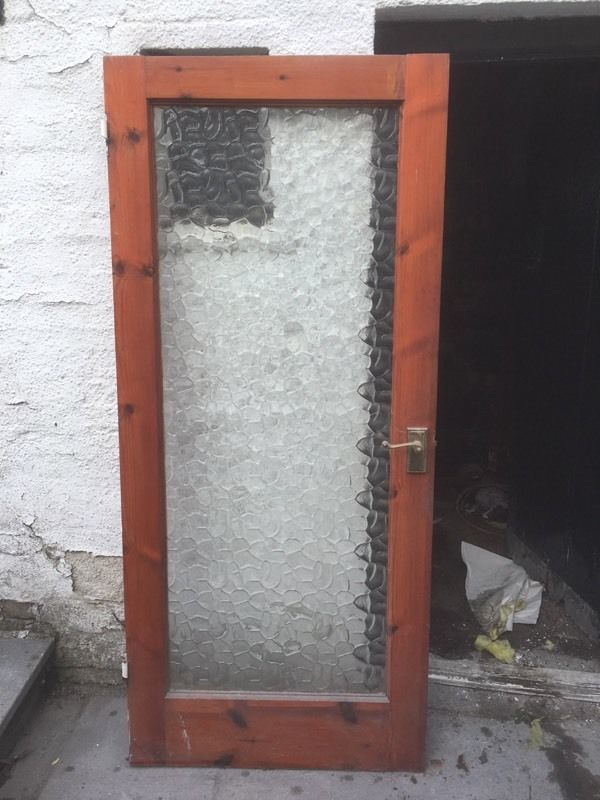 Internal hard wood door.