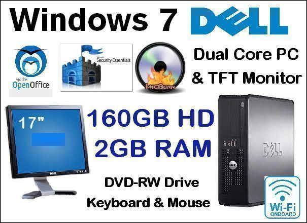 Windows 7 Dell Dual Core PC system