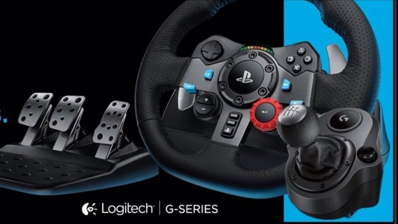 Logitech driving force G29 sets and Logitech driving force shifter