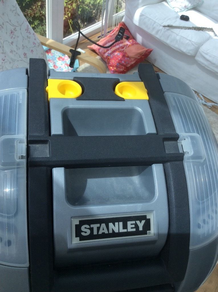 Stanley wheeled tool storage with three compartments