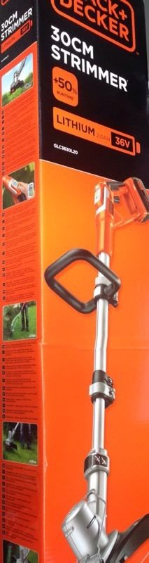 Black & Decker GLC3630L Cordless Strimmer 36 Volt Grass Trimmer 2.0Ah