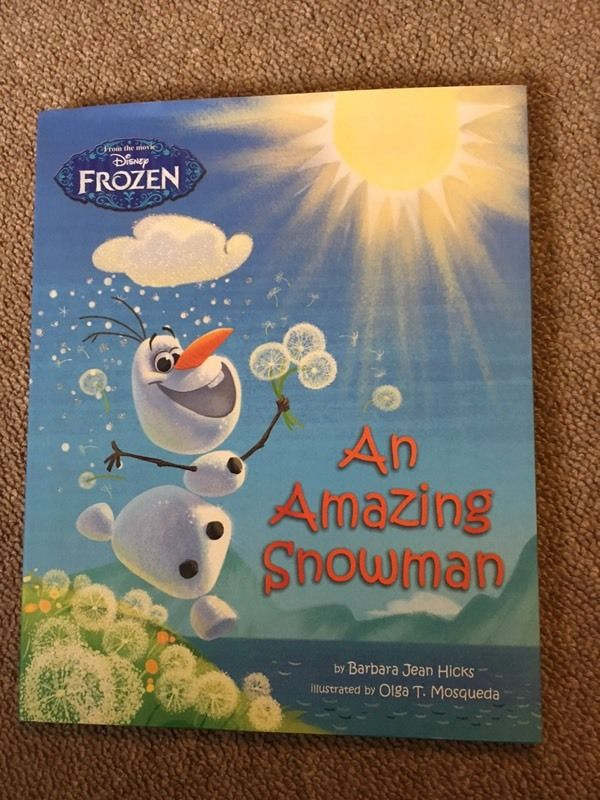 Frozen book 'An amazing snowman'