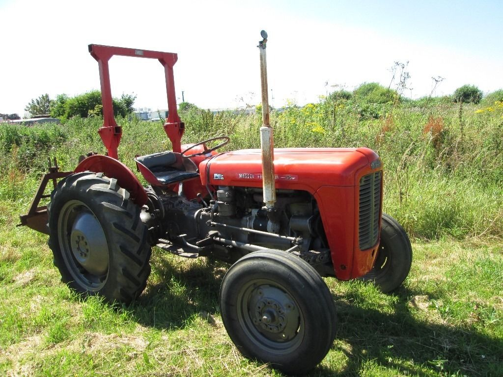 Massey Ferguson 35 vintage tractor, Very Good Condition with 2 furrow plough
