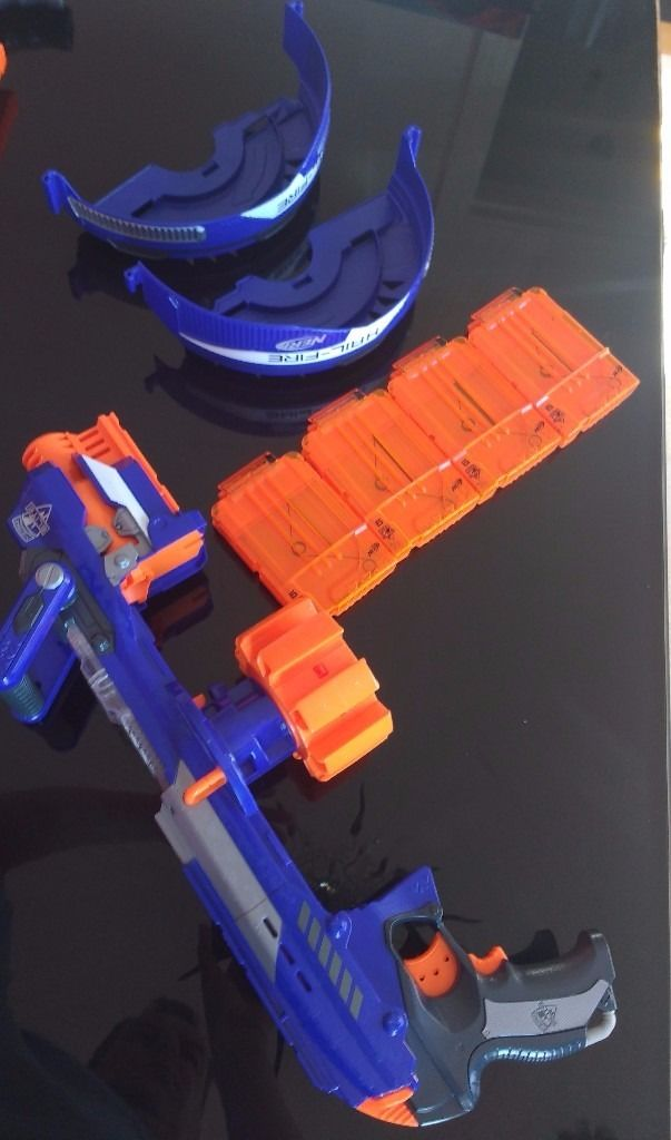 Hail Fire Electronic Clip System Nerf Blaster