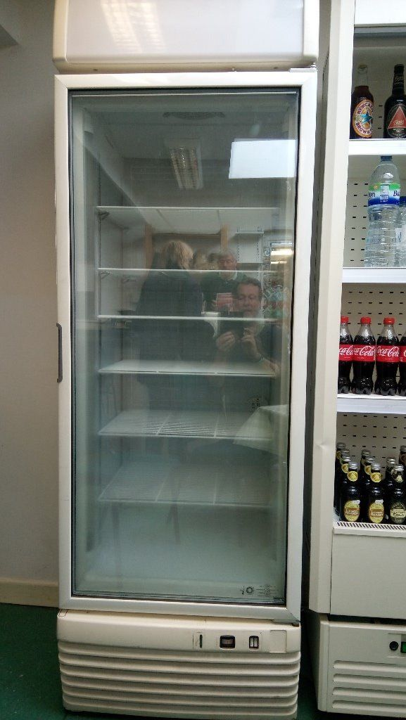 UPRIGHT GLASS FRONTED FREEZER