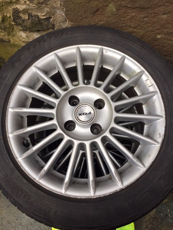 "FOX 3EVO 15"" 4x100 ALLOYS"