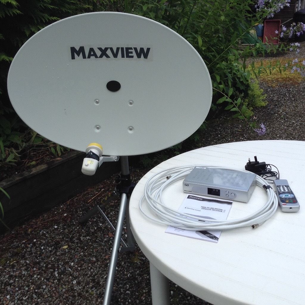 Maxview Omnisat 80cm oval dish and equipment