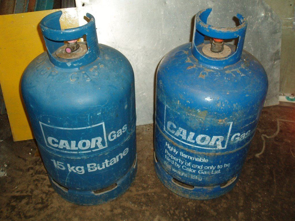 Gas cylinders ( 2 off ) Calor gas 15kg (empty)
