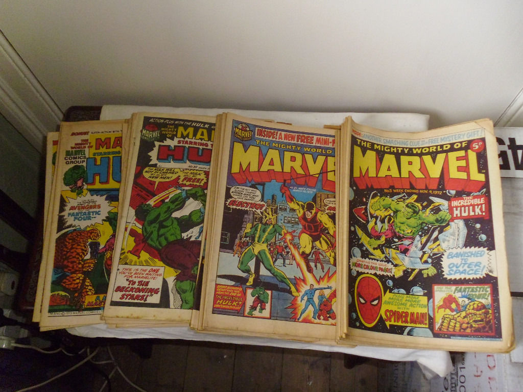 35 mighty world of marvel comics from 1973/4