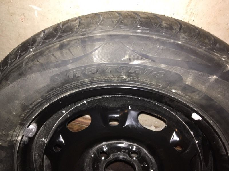 14 inch wheel and brand new tyre for sale