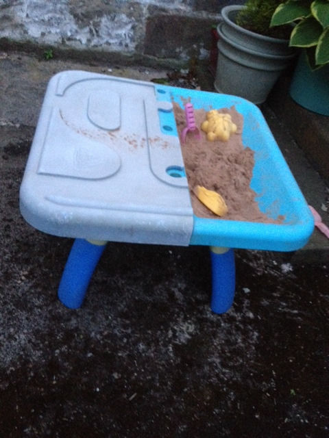 ELC Early Learning Centre Sand & water tray Pit SandPit with sand and lid