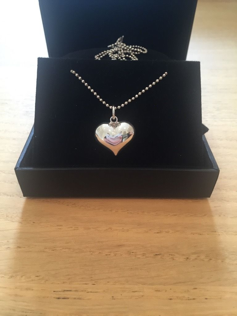 Necklace - silver heart necklace