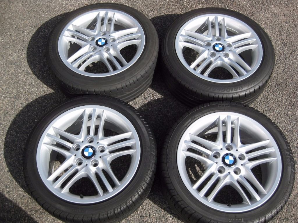 "17"" GENUINE STYLE 89 TRIPLE SPOKE E46 ALLOYS FULLY REFURBED INC 2 NEW TYRES Z3 Z4"