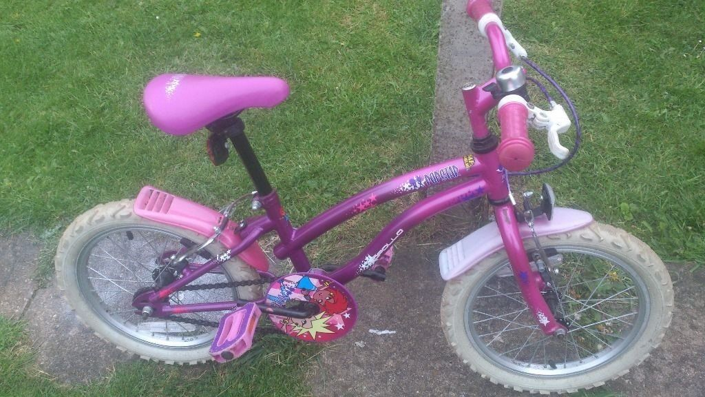 16IN PINK POPSTARS BIKE WITH STABILISERS