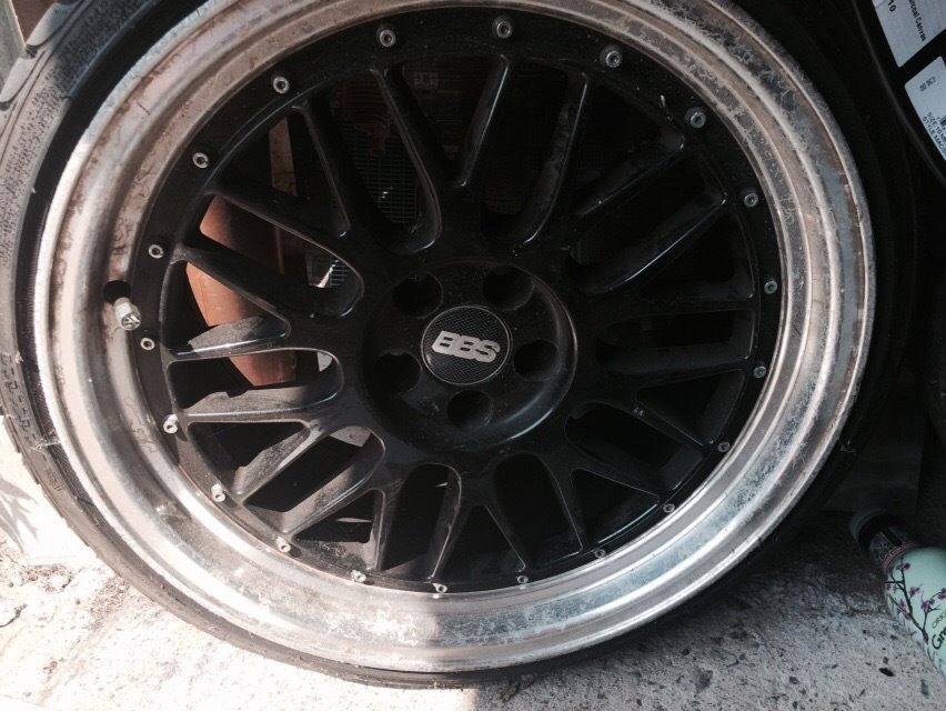 18inch black n chrome BBS wheels and new tyres