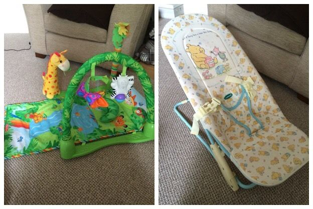 Baby bundle fisher price play mat jungle mothercare whinnie poohrocker