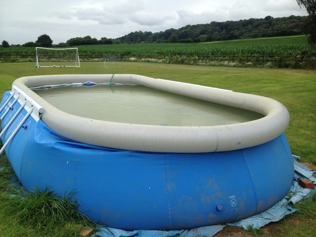 Bestway 20ft x 12ft x 48 inch oval fast set above ground garden pool